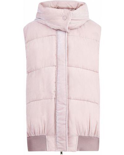 Розовый бархатный теплый спортивный костюм Stella Mccartney