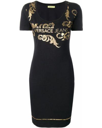 Джинсовое платье мини с вырезом Versace Jeans
