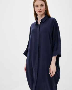 Платье рубашка - синее Tantra