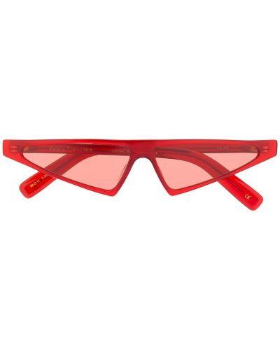 Солнцезащитные очки кошачий глаз красный Kaleos