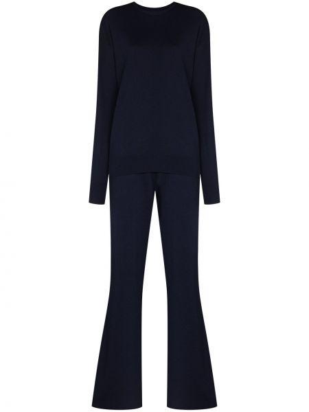 Кашемировый спортивный костюм - синий Olivia Von Halle