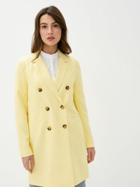 Желтое пальто с капюшоном Ichi