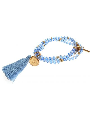 Bransoletka z koralikami - niebieska Tatami