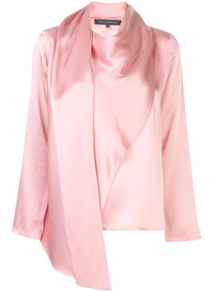 Розовый топ с запахом из вискозы с драпировкой Sally Lapointe