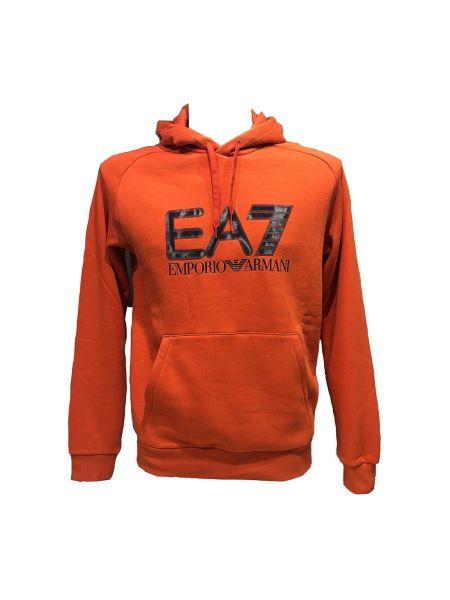 Sweter - pomarańczowy Emporio Armani Ea7