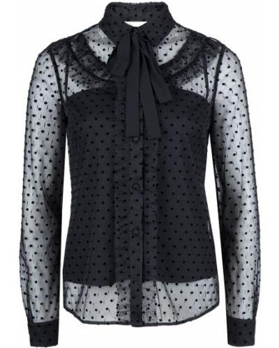 Блузка с длинным рукавом с рюшами прозрачная Red Valentino