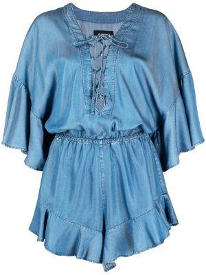 Bawełna niebieski z rękawami pajacyk Pinko