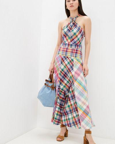 Разноцветное платье Polo Ralph Lauren