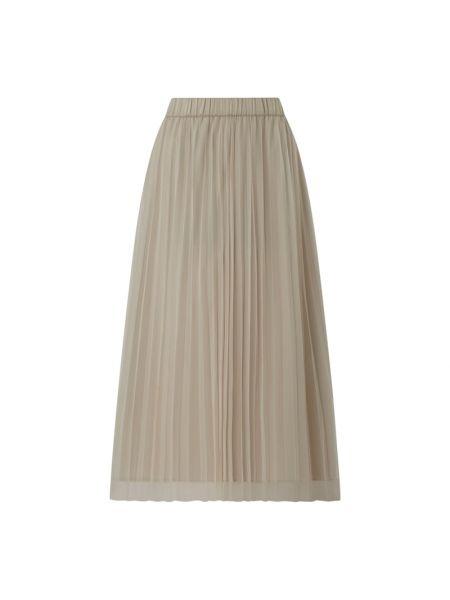 Beżowa spódnica midi tiulowa rozkloszowana Jake*s Collection