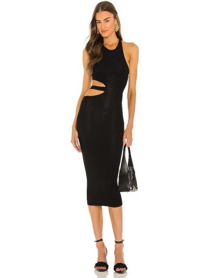 Черное платье миди Michael Costello