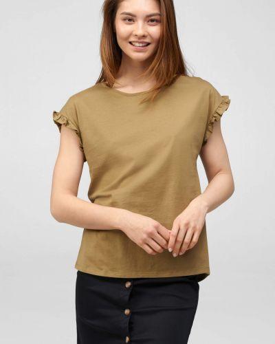 Zielony t-shirt bawełniany krótki rękaw Orsay