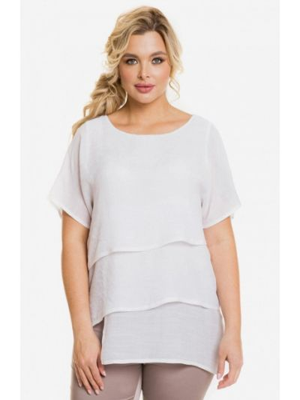 Белая весенняя блузка Venusita