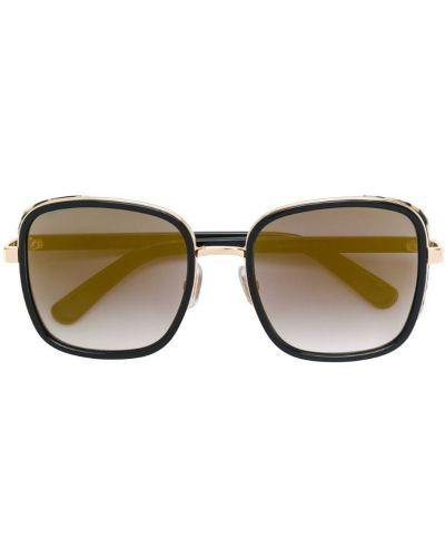 Меховые солнцезащитные очки Jimmy Choo Eyewear