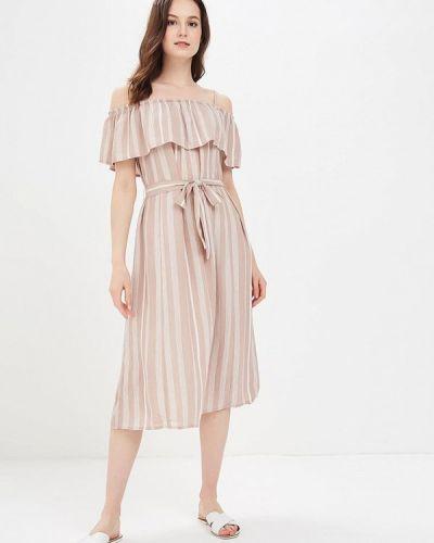Бежевое платье весеннее Ichi