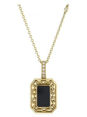 Złoty naszyjnik łańcuch - czarny Shay