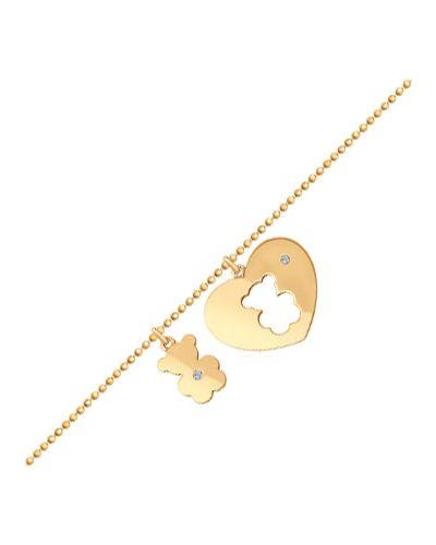 Золотой браслет с подвесками с камнями Sokolov