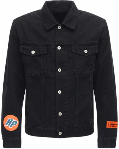 Ватная с рукавами синяя джинсовая куртка Heron Preston