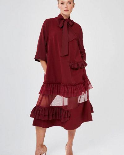 Повседневное красное платье Yulia'sway