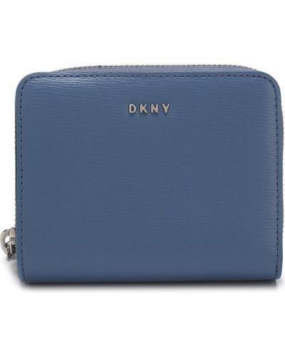 Голубой кошелек кожаный Dkny