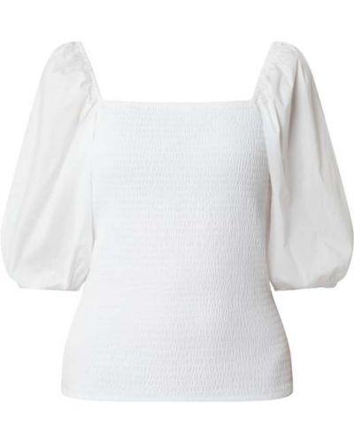Biała bluzka bawełniana z raglanowymi rękawami Set