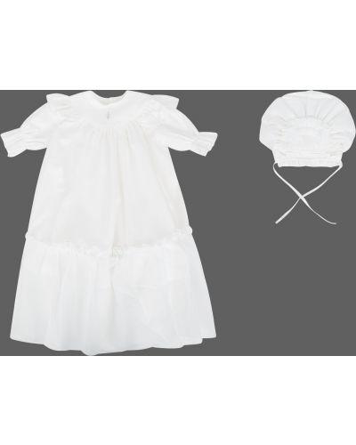 Платье хлопковое крестильное ангел мой