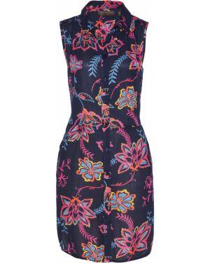 Блузка с коротким рукавом с баской с цветочным принтом Bonprix