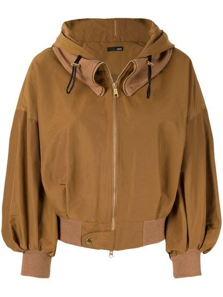 Куртка с капюшоном мятная с манжетами Frei Ea