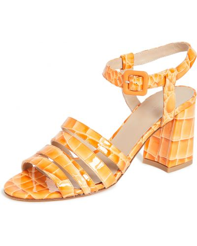 Sandały skorzane klamry peep toe Maryam Nassir Zadeh