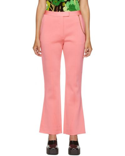 Spodni różowy rozbłysnął spodnie z kieszeniami Givenchy