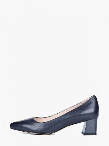 Синие кожаные туфли закрытые из натуральной кожи Respect
