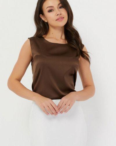 Свободный коричневый шелковый топ Silk Me