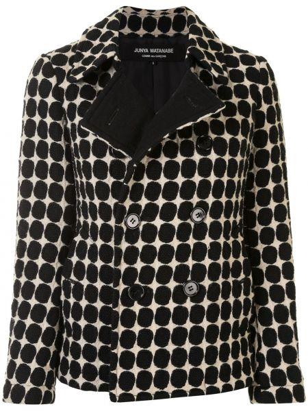 Шерстяной прямой классический пиджак с воротником на пуговицах Junya Watanabe Comme Des Garçons Pre-owned