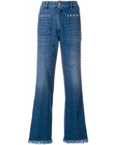 Расклешенные джинсы синие The Seafarer