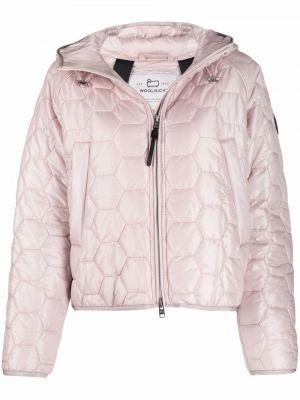 Стеганая куртка - розовая Woolrich