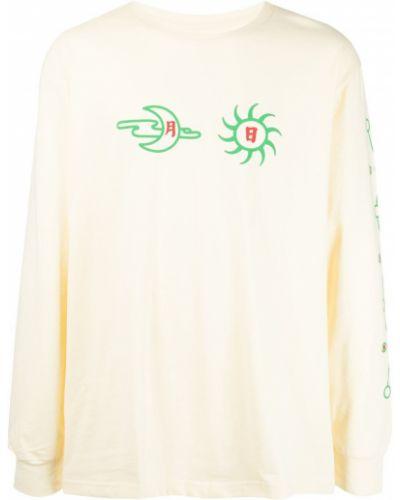 Biała t-shirt z długimi rękawami Clot