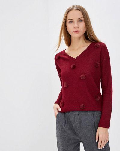 Пуловер бордовый красный Springfield