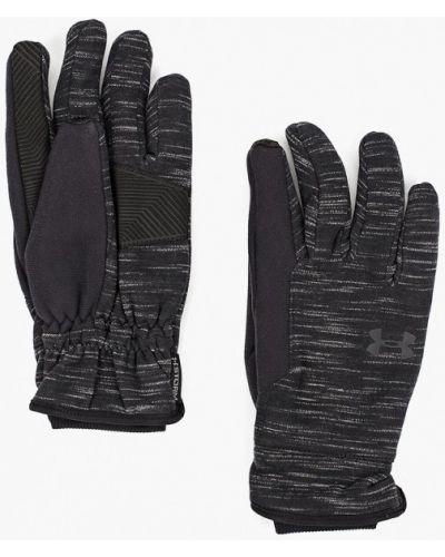 Черные перчатки текстильные Under Armour