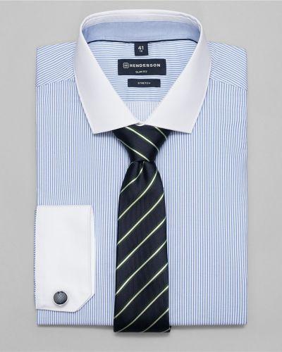 Рубашка с длинным рукавом в полоску на кнопках Henderson