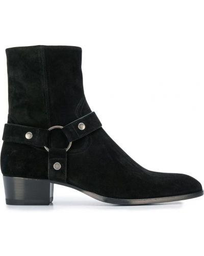 Ботильоны кожаный для обуви Saint Laurent