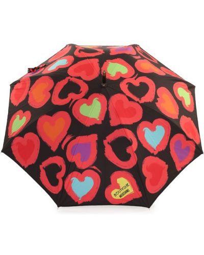 Черный зонт-трость Moschino
