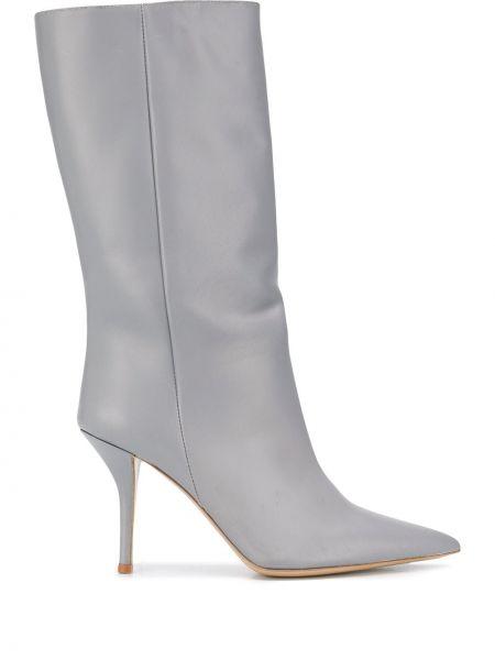 Ботильоны на каблуке - серые Gia Couture