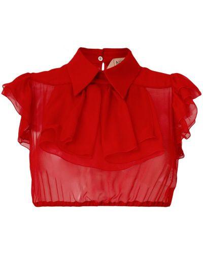 Рубашка с вышивкой прозрачная N21