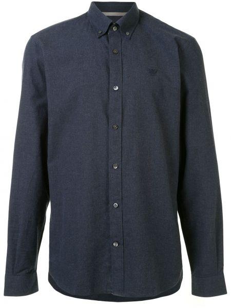 Niebieska koszula bawełniana z haftem Gieves & Hawkes
