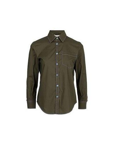 Хлопковая рубашка - зеленая Marni