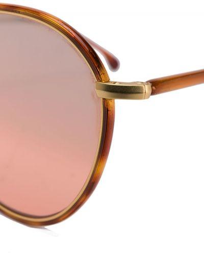 Солнцезащитные очки коричневый хаки Paul Smith Eyewear