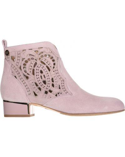 Кожаные сапоги на каблуке на каблуке Marino Fabiani