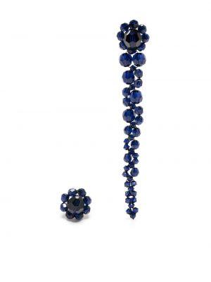 Серьги с бисером - синие Simone Rocha