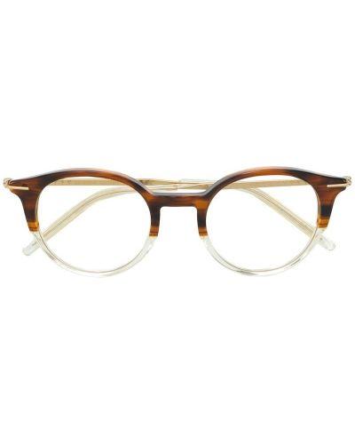 Очки коричневый хаки Tomas Maier Eyewear