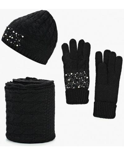 Черные перчатки текстильные Vitacci