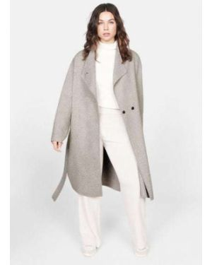 Пальто бежевое шерстяное Mango